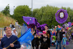 Carnival of the giants festival parade in Telford Shropshire Royalty Free Stock Image