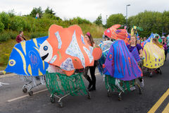 Carnival of the giants festival parade in Telford Shropshire Stock Images