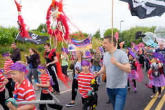 Carnival of the giants festival parade in Telford Shropshire Royalty Free Stock Images