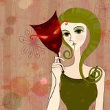 Carnival girl Stock Image