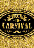 Carnival glittering lettering design. Vector illustration Royalty Free Stock Images
