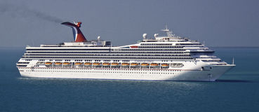 Carnival Glory Cruise Ship in Belize Stock Image