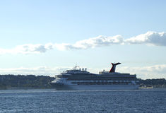 Carnival Glory Cruise Ship leaving New York Royalty Free Stock Photos