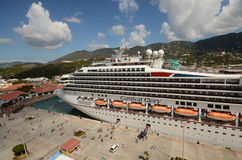 Carnival Glory cruise ship. St Thomas, USVI - March 26, 2014: Carnival's Glory ocean liner arrives in St Thomas, US Virgin Islands on March 26, 2014. St Thomas Stock Images