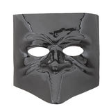 Carnival glossy black mask on white Stock Images