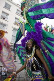 A carnival goer at Notting Hill Carnival Royalty Free Stock Images