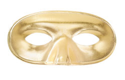 Carnival golden mask. Isolated on white, clipping path included Royalty Free Stock Images