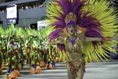 Carnival 2018 - Grande Rio. Rio, Brazil - february 12, 2018: Samba School parade in Sambodromo. Grande Rio during parade of the carioca carnival in the Marques royalty free stock photos