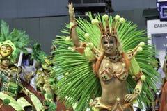 Carnival 2018 - Grande Rio. Rio, Brazil - february 12, 2018: Samba School parade in Sambodromo. Grande Rio during parade of the carioca carnival in the Marques stock photo