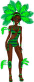 Carnival Green Girl Royalty Free Stock Photos