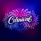 Carnival hand written lettering text Stock Photo