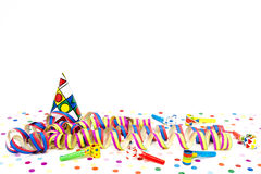 Carnival hats and streamers Royalty Free Stock Photography