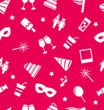 Carnival holiday objects seamless pattern Stock Photography