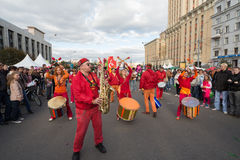 Carnival in honor of the birthday of the city of Moscow Stock Image