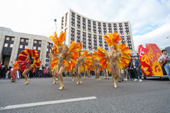Carnival in honor of the birthday of the city of Moscow Stock Photography