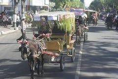 Carnival Horse Carriage In Sukoharjo Stock Photos