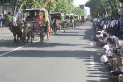 Carnival Horse Carriage In Sukoharjo Stock Photo