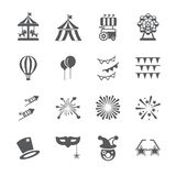 Carnival icon set vector illustration