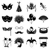 Carnival icons set Royalty Free Stock Photography