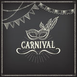 Carnival icons, sketch design. Royalty Free Stock Photos