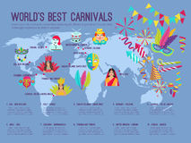 Carnival Illustration Infographic Stock Photography
