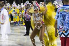 Carnival 2019 Inocentes de Belford Roxo. Rio, Brazil - march 01, 2019: Inocentes de Belford Roxo during the Carnival Samba School Carnival RJ 2019, at Sambodromo stock photography