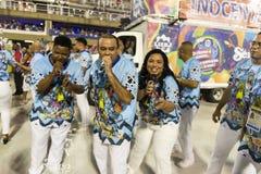 Carnival 2019 Inocentes de Belford Roxo. Rio, Brazil - march 01, 2019: Inocentes de Belford Roxo during the Carnival Samba School Carnival RJ 2019, at Sambodromo royalty free stock image
