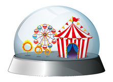 A carnival inside a dome Stock Photos