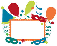 Carnival invitation frame Stock Photography