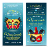 Carnival Invitation Vertical Banners Royalty Free Stock Image