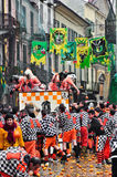 Carnival of Ivrea. The battle of oranges. Stock Image