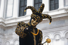 Carnival joker. Portraits of a joker at the Carnival in Venice Italy Stock Photography