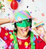 Carnival Kid. Happy carnival kid portrait.Party kid Stock Photos