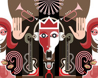 Carnival. King of Music - vector illustration Royalty Free Stock Image