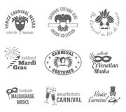 Carnival Label Set Royalty Free Stock Photography