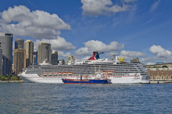 Carnival Legend Cruise Ship Sydney Stock Image