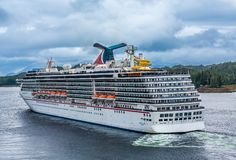 Carnival Legend Leaving Ketchikan royalty free stock photo