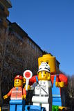 Carnival - Lego blocks float Stock Photography