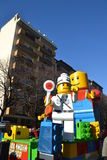 Carnival - Lego blocks float Stock Photo