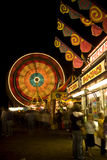 Carnival lights at night Stock Images