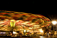 Carnival lights at night Stock Image