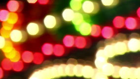 Carnival Lights 20. Vibrant Lights at a Carnival stock footage