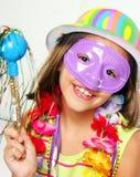 Carnival little girl Stock Image