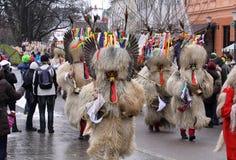 Carnival in Ljubljana. Traditional Dragon`s carnival in Ljubljana 9.2. 2013 Royalty Free Stock Photography