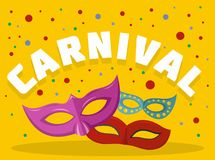 Carnival logo, flat style. Carnival logo. Flat illustration of carnival vector logo for web Stock Illustration