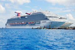 Carnival Magic and Carnival Glory cruise ships Stock Photos