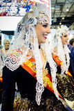 A carnival Maid of Honour from Alicante Stock Image