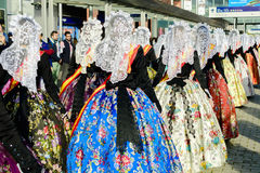 Carnival Maids of Honour from Alicante Royalty Free Stock Photography