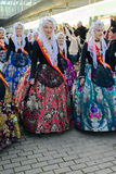 Carnival Maids of Honour from Alicante Royalty Free Stock Photos