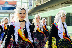 Carnival Maids of Honour from Alicante Stock Photo